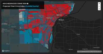Projected Total Crime Index for Detroit