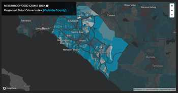 Projected Total Crime Index for Orange County