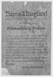 Old poster titled 'Thieves & Burglars!'